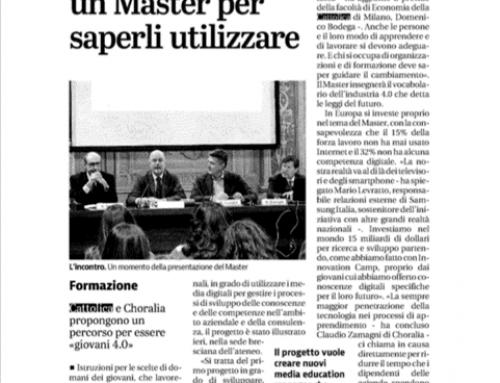Master in Digital Learning – MEM- articolo sul Giornale di Brescia